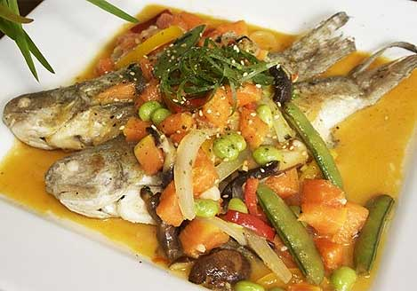 Fresh fish with veggies