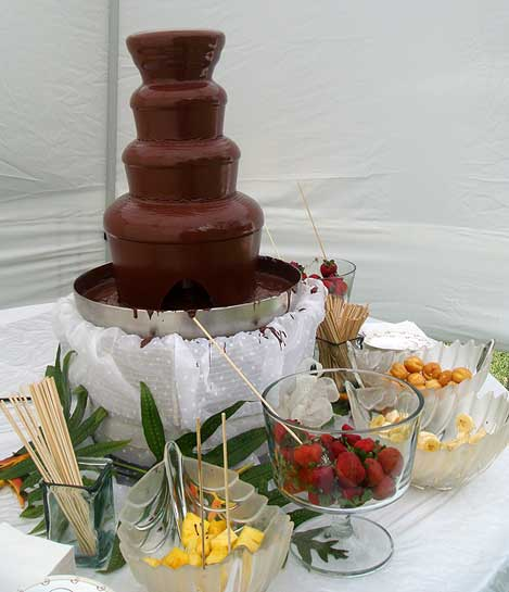 Maui Chocolate Fountain outdoors
