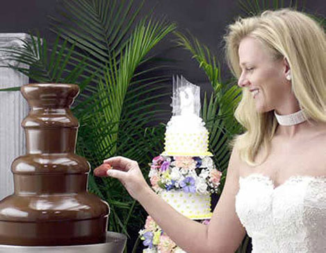 Maui Chocolate Fountain adds to any wedding