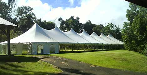 40 by 160 Foot Pole Tent by Tents by Grace