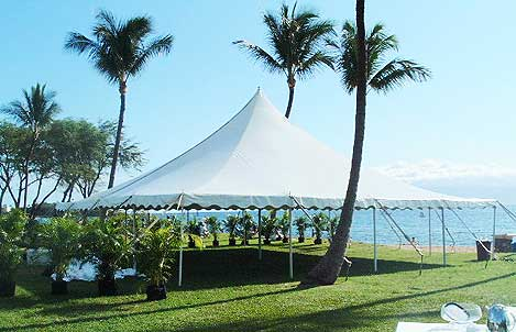 40 by 40 Foot Pole Tent by Tents by Grace