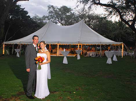 40 by 60 Foot Pole Tent by Tents by Grace
