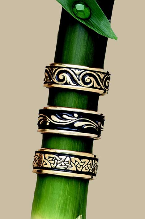 Gold Wedding Bands by Bruce Tapley