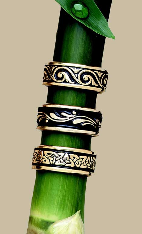 Gold Celtic Wedding Bands by Bruce Tapley