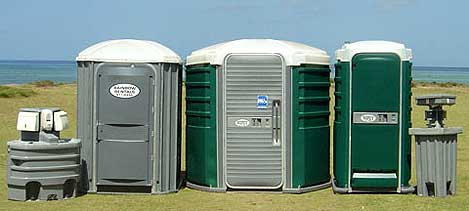 Portable toilets from Rainbow Rentals
