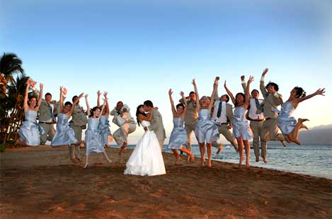 Wedding Jump by Caprice Nicole Photography