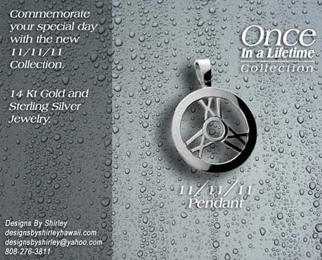 Once in a Lifetime 111111 Pendant by Shirley Lecomte