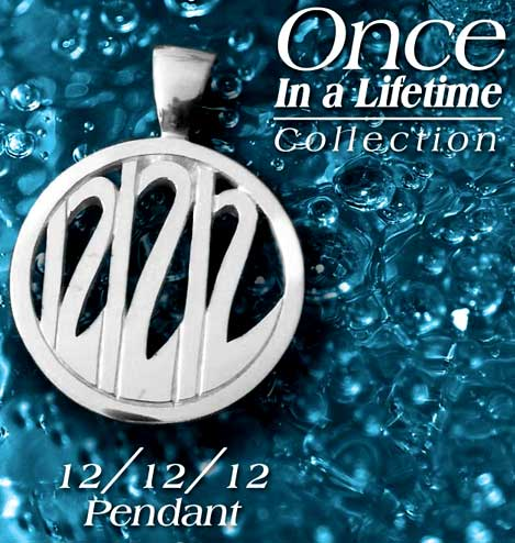 Once in a Lifetime 121212 Pendant by Shirley Lecomte