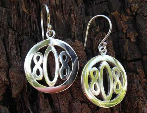 808 Earrings by Designs by Shirley