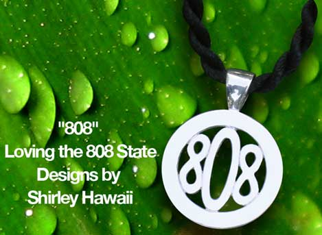 Hawaii 808 Zipcode Pendant