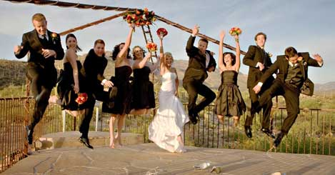 Wedding Party Jump by Aloha Moments