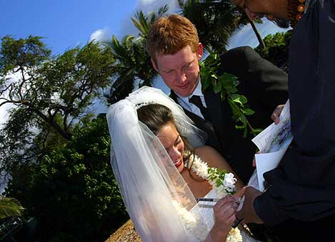 Marriage License Signing with Nohea Maui Weddings