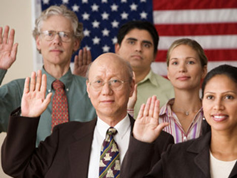 Swearing in Ceremony for Naturalization as US Citizens
