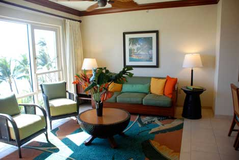 Ka'anapali Timeshares Living Room