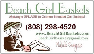 Beach Girl Baskets business card