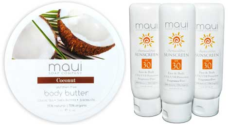Coconut Body Butter & Sun Screen