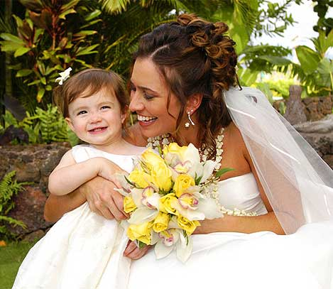 Bride & Daughter by Francois Laborde Photography