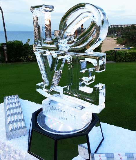 Love Ice Sculpture by Darren Ho