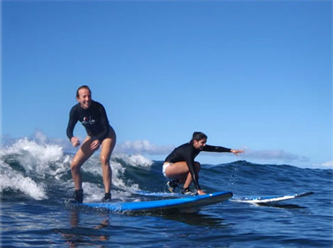 Surfing on maui