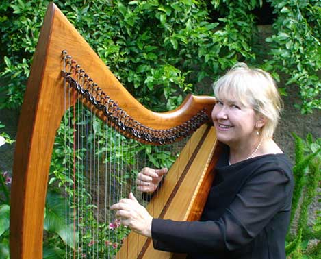 Elaine Olson with Celtic Harp