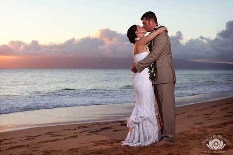 Sunset couple in Kihei by Natalie Brown